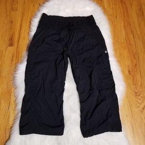 Lululemon Black Studio Dance Crop Capri Pants 8